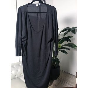 Old Navy Oversized V-Neck Shirt Dress
